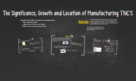 The Significance, Growth and Location of Manufacturing  TNC's