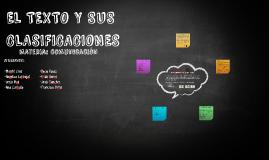 El TEXTO Y SUS CLASIFICACIONES