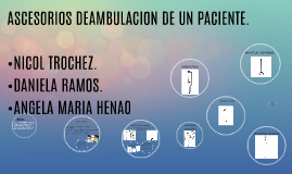 Copy of DEAMBULACION DE UN PACIENTE