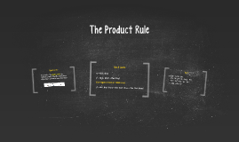 The Product Rule