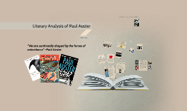 Literary Review on Paul Auster