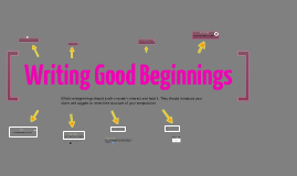 Writing Good Beginnings
