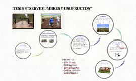 """Copy of TESIS 8 """"SERVIDUMBRES Y USUFRUCTOS"""""""