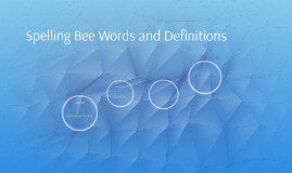 Spelling Bee Words and Definitons