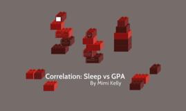 Sleep vs GPA