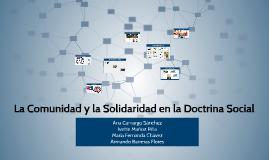 La comunidad y la solidaridad en la doctrina social