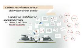 Copy of Capitulo 12: Principios para la elaboración de una prueba