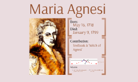 Maria Agnesi