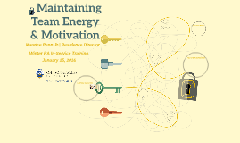 Maintaining Your Team's Energy & Motivation