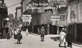 The Greek-Bulgarian crisis of 1925