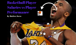 Basketball Player Salaries Compared to Their  Statistics