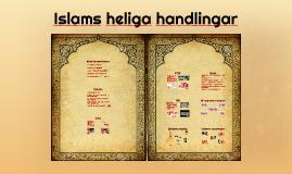 Islam - heliga handlingar