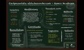 Eindpresentatie afstudeeronderzoek - Remco Hazebroek