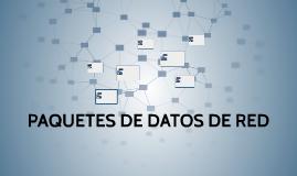 PAQUETES DE DATOS DE RED