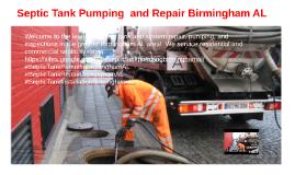 Septic Tank Pumping and Repair Birmingham AL