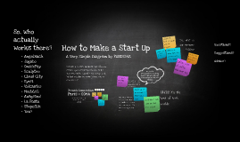 How to Make a Start Up