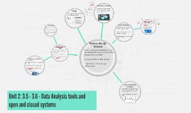 Unit 2: 3.5 - Data Analysis tools