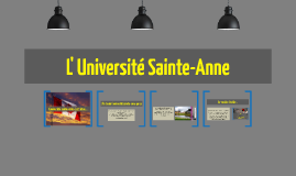 L' Université Sainte-Anne