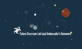 Future Classroom Lab Lead Ambassador's Homework