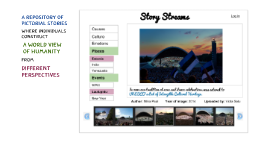 A repository of pictorial stories that constructs a world vi