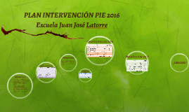 PLAN INTERVENCIÓN PIE 2016
