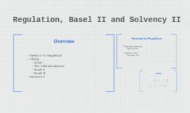 Regulation, Basel II