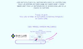Copy of GUÍA METODOLÓGICA DEL SISTEMA INTEGRADO DE GESTIÓN QHSE BAJO LAS NORMAS  ISO 9001:2008, ISO 14001:2004 Y OHSAS 18001:200
