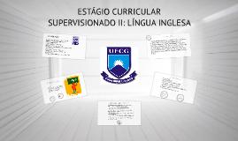 ESTÁGIO CURRICULAR SUPERVISIONADO: LÍNGUA INGLESA I