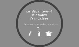 département d'études françaises