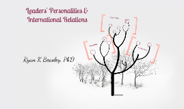 Copy of Personality and International Relations