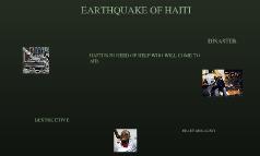 earthquake of haiti