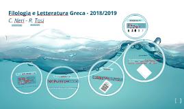 Filologia e Letteratura Greca - 2018/2019
