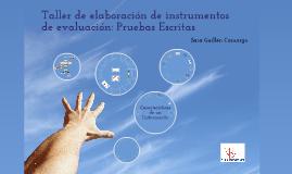 Taller de Elaboración de Instrumentos de Evaluación