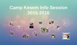 Camp Kesem Info Session 2015-2016