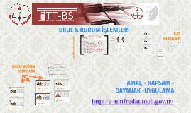 EĞİTİM KURUMU İŞLEMLERİ - http://e-mufredat.meb.gov.tr/