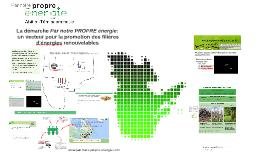 La démarche Par notre PROPRE énergie : vecteur de promotion d'énergies renouvelables