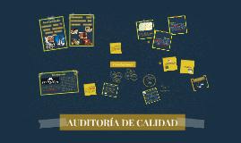 AUDITORÍA DE CALIDAD