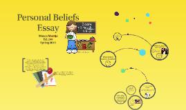 Personal belief essay