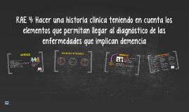 RAE 4: Hacer una historia clínica teniendo en cuenta los ele
