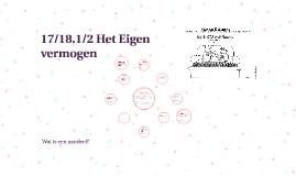4 H/V Beco H.17/18 in Balans Eigen vermogen