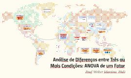 Análise de Diferenças entre 3 ou Mais Condições: ANOVA