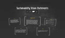 Sustainability Vision Statements for Other Universities