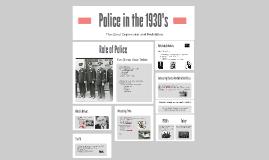 Police in the 1930's