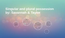 Singular and plural possession