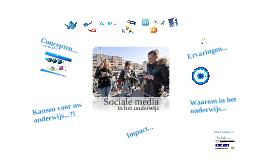 Copy of Sociale media in het MBO