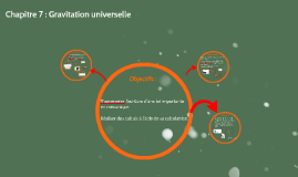 Chapitre 7 : Gravitation universelle
