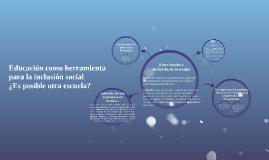 Educación como herramienta para la inclusión social