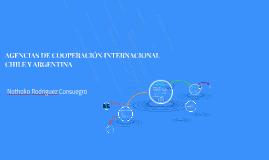 AGENCIAS DE COOPERACIÓN INTERNACIONAL