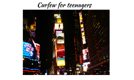 Curfew for teenagers