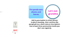 Copy of PUNCTUATION PANDA varying punctuation